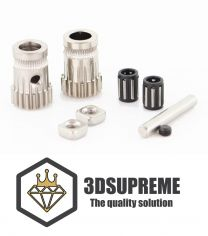 3DSUPREME - Hardened Steel Dual Drive Gear Kit